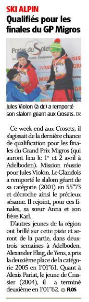 Jules Violon/La côte 15.3.2017